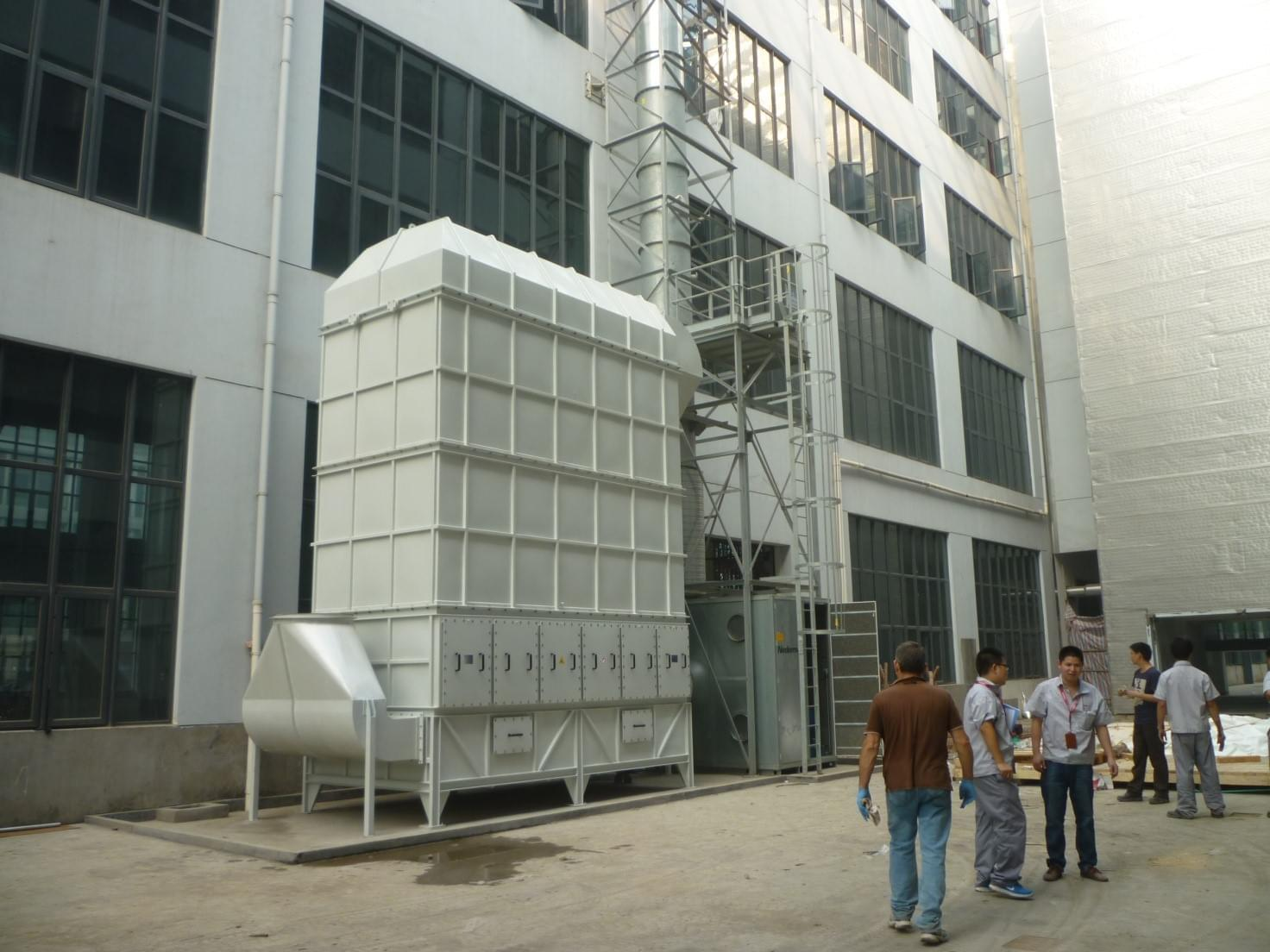 SO.TEC overlooking the East: provided the first air filtration system in China
